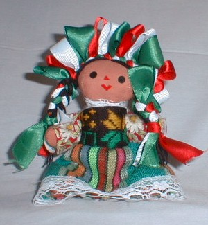 Hand Crafted Mexican Doll (Small)