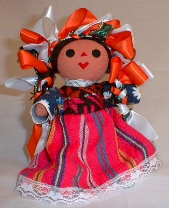 Hand Crafted Mexican Doll (Medium)