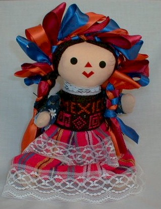 Hand Crafted Mexican Doll (Large)
